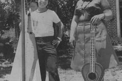 1974 - avec ma mère Luisa Lucena à 12 ans - Paraguay