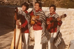 1983 - Jerusalem avec Los tres amigos paraguayos